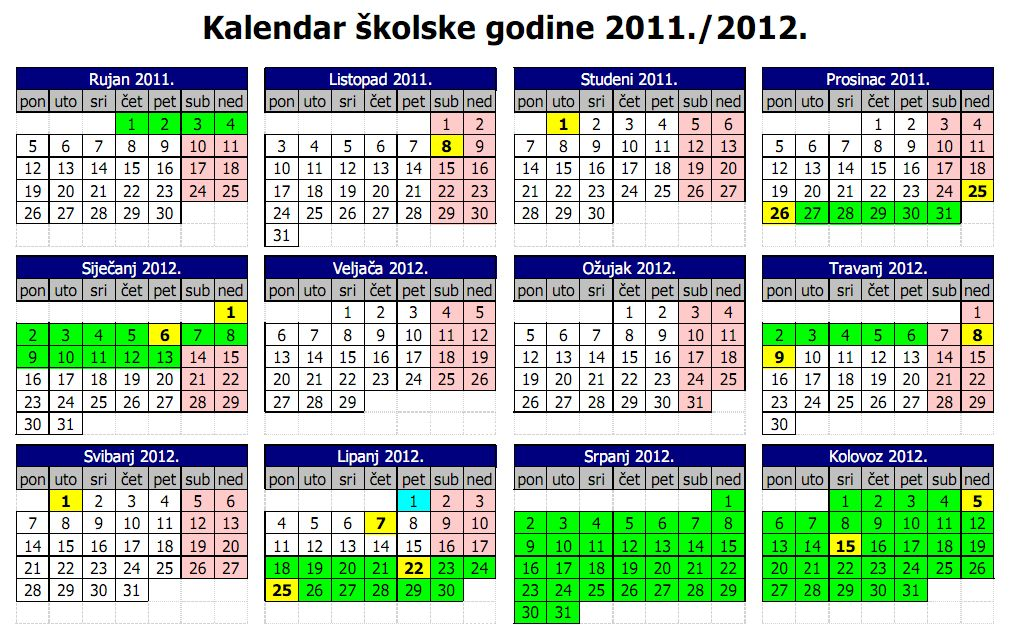 2b79c35572 Osnovna škola Sela - Naslovnica - KALENDAR ŠKOLSKE GODINE 2011. 2012.
